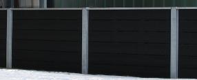 ivarplank hegn med galvaniserede stålsøjler